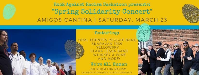 Rock Against Racism Saskatoon presents: Spring Solidarity!