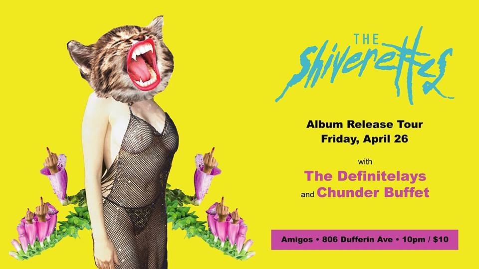 The Shiverettes w/ Chunder Buffet & The Definitelays